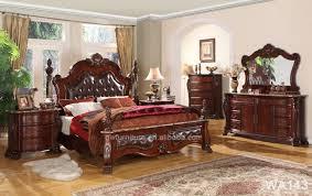 wholesale top quality wood antique bedroom furniture set royal