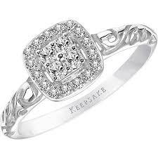engagement ring walmart keepsake ella 1 5 carat t w certified 10kt white gold