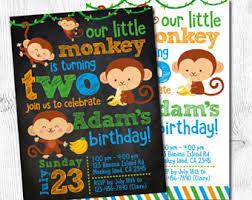 monkey birthday etsy
