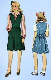 1940s vintage simplicity sewing pattern 4231 wwii toddler girls