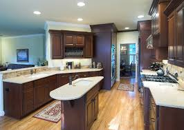 dark wood flooring kitchen cherry cabinets others beautiful home