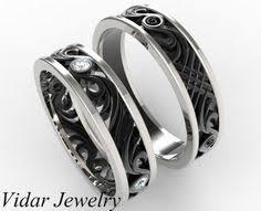 Black Gold Wedding Rings by Black Gold Matching Wedding Bands Unique Matching Wedding Bands