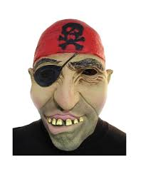 pirate mask with eye flap pirates mask horror shop com