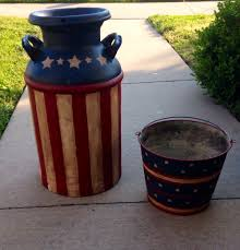 Vintage Americana Decor Vintage Americana Milk Can And Bucket Americana Pinterest