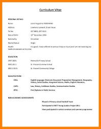 simple curriculum vitae format 4 simple cv layout simple cv formate