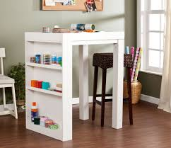 small table with shelves tables with storage attempting to organize your creativity