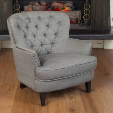 Linen Club Chair Shop Best Selling Home Decor Tafton Grey Linen Club Chair At Lowes Com