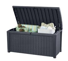 outdoor storage keter patio furniture cushion storage ideas balcony