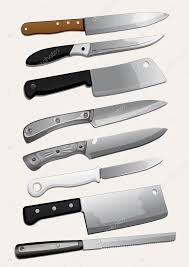 different types of kitchen knives kinds of kitchen knives stock vector archam 20798459