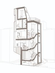 house perspective with floor plan gallery of crevice house theplus architects 44
