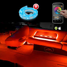 color led light strips xkglow xk silver app wifi controlled pontoon boat narine interior