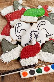 dinosaur christmas cookies with a pyo stencil the bearfoot baker