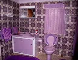 purple bathroom wallpaper trendy accessories awesome purple color
