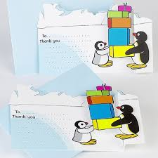 pingu thank you cards christmas party supplies u0026 gifts party ark