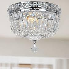 chrome flush mount light elisa chrome and crystal flushmount chandelier chrome and crystal