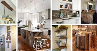 rustic barn wood kitchen cabinets 32 best ideas to add reclaimed wood to your kitchen in 2021
