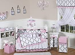 White Crib Set Bedding Pink Black And White Princess Baby Bedding 9pc