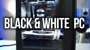 gaming desktops black friday awesome black u0026 white gaming pc build youtube