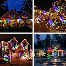 Outdoor Projection Lights For Christmas Auledio 12 Volts Christmas Lights Projector Kit Black