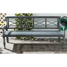 Rustic Outdoor Bench by Safavieh Karoo Ash Gray Patio Bench Pat6704a The Home Depot