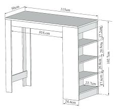 table de cuisine haute avec rangement table bar de cuisine avec rangement awesome table de bar avec