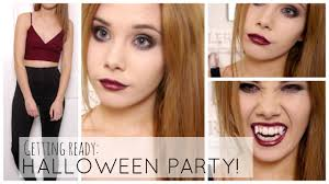 get ready with me halloween party vampire youtube