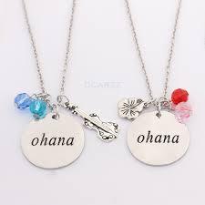 Hand Stamped Necklace Aliexpress Com Buy 2 Pcs Set