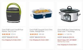 crock pot sales for black friday crock pot black friday deals up to 64 off