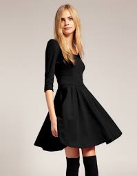 black dress with sleeves search style inspiration