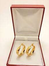 earrings saudi gold 21k solid gold earrings ebay