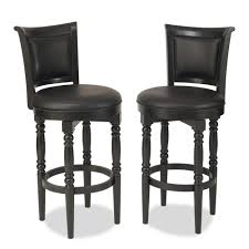 Leather Bar Stools With Back Appealing Simple Modern Bar Stool Come With Black Leather Bar