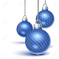 blue ornaments hanging white royalty free cliparts