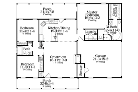 215 Square Feet Colonial Style House Plan 3 Beds 2 00 Baths 1492 Sq Ft Plan 406 132