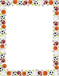 printable sports ball border use the border in microsoft word or