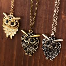 vintage owl pendant necklace images Vintage owl pendant necklace the owls store 1&amp
