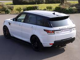 white land rover black rims used land rover range rover sport 3 0 sdv6 autobiography dynamic