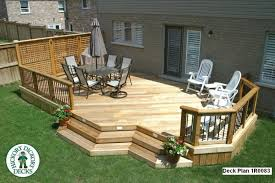 Cheap Backyard Deck Ideas Deck Plan Option Love The Lattice Wall Outdoor Living