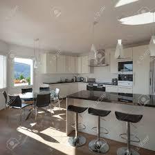 cuisine avec comptoir intérieur de la maison comptoir d une cuisine avec tabourets banque