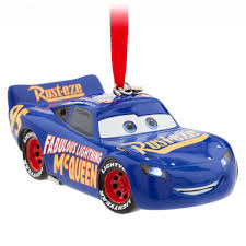 lightning mcqueen light up sketchbook ornament cars 3 blue