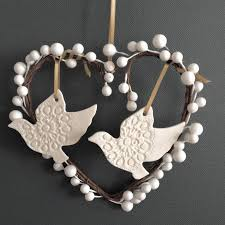 personalised turtle doves decoration by abby
