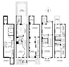brownstone floor plans brownstone row house floor plans home design
