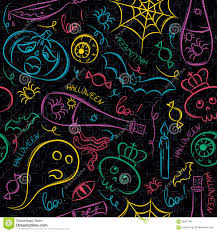 seamless pattern with color halloween ghost skull and pumpkin