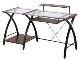 Z Line Belaire Glass L Shaped Computer Desk Belaire Glass L Desk Z Line Designs Inc