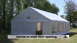 tent building 6m span gala tent garden marquee pvc how to erect video guide