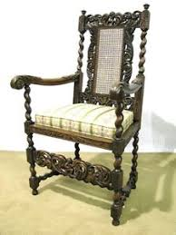 Made Armchair Heavily Carved Belgian Made Armchair With Caned Back Restored
