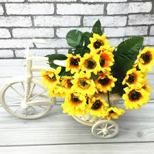 Sunflower Home Decor by Aliexpress Com Buy Artificial Flower Small Sunflowers Heads