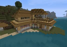 small modern beach house v1 survival minecraft project