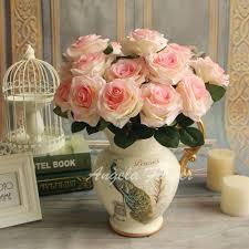 Cheapest Flowers Aliexpress Com Buy Cheap 9 Heads Bouquet Artificial Silk