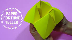 how to make paper fortune teller step by step origami tutorial