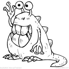 coloriage monstre à colorier dessin à imprimer monstres